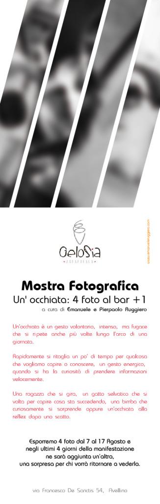 Locandina Mostra Fotografica Un' occhiata: 4 foto al bar +1